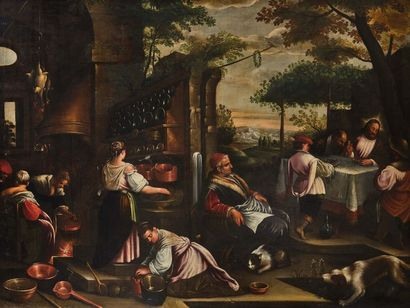 Jacopo BASSANO, Atelier de Les Pèlerins d'Emmaüs...