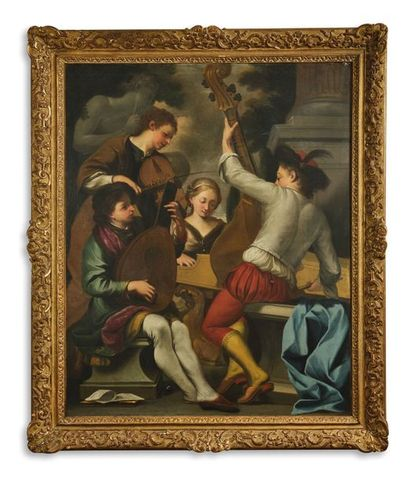 Ecole ITALIENNE vers 1730 suiveur de Giovanni...