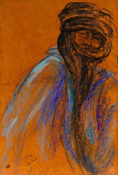 Frédérique MAILLART (1946-)  Touareg en bleu...