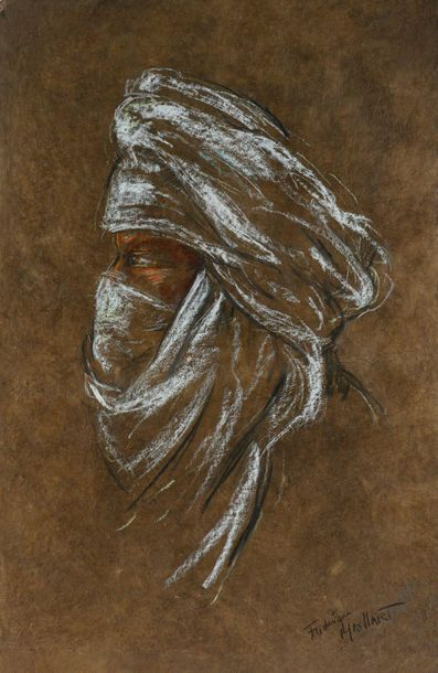 Frédérique MAILLART (1946-) Profil de touareg...