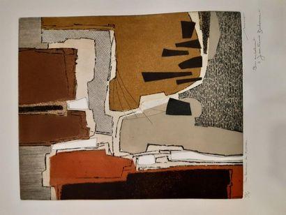 MUNCH Bernard (1925-)  Les sentiers de Rustrel...