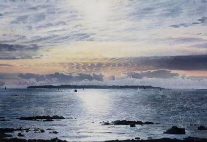 Paul NATTER (1972) Port-Louis Huile sur toile...
