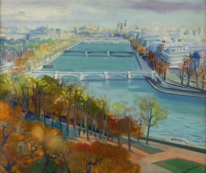 Lucien NEUQUELMAN (1909-1988)  La Seine vue...