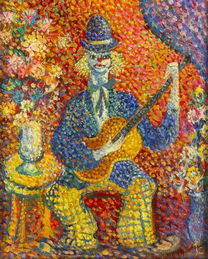 Lucien NEUQUELMAN (1909-1988)  Le clown musicien...