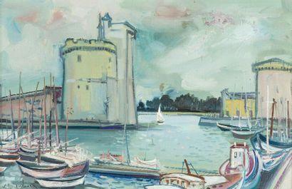Lucien NEUQUELMAN (1909-1988)  Le port de...