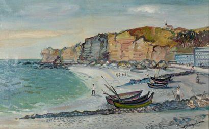 Lucien NEUQUELMAN (1909-1988)  Les falaises...