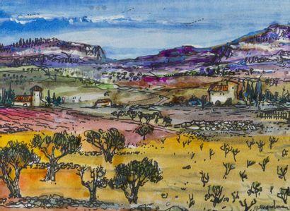 Lucien NEUQUELMAN (1909-1988)  Paysage de...