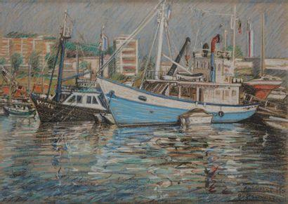 PRUVOST Pierre (1921-2008)  Antibes, le port,...