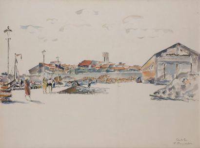PRUVOST Pierre (1921-2008)  Antibes, l'esplanade...