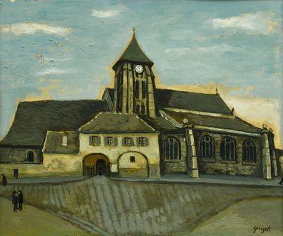 Alphonse QUIZET (1885-1955)  Chevet d'église...