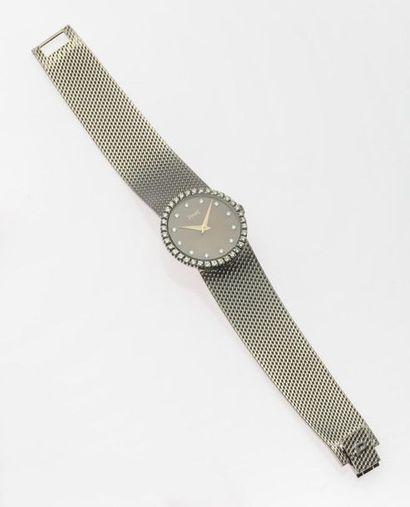PIAGET, Bracelet montre en or gris, 750 MM,...