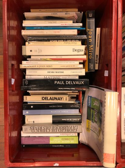 Panier de livres d'art : MIRO, MATISSE, DELAUNAY,...