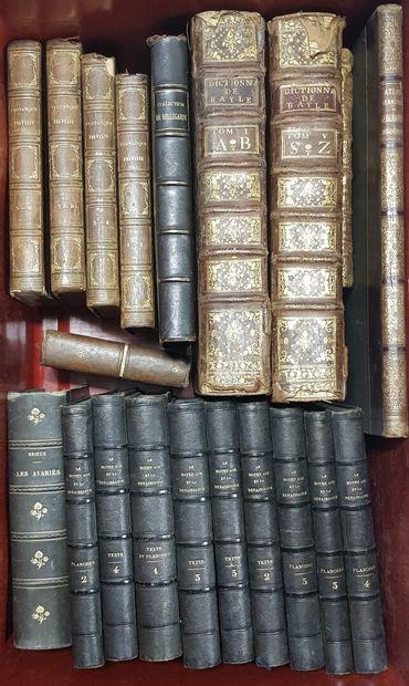 Une caisse de volumes XVIIIème XIXème siècle...