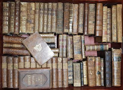 Ensemble de volumes XVIIème - XVIIIème siècles...