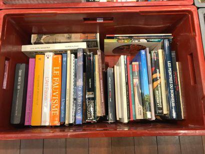 Panier de livres d'art : fauvisme, surréalisme,...