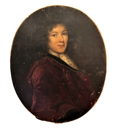 Ecole française du XVIIIème siècle  Portrait d'Etienne Fournier de Lempdes  Huile...