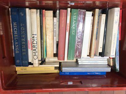 Panier de livres d'art : REMBRANDT, VELASQUEZ,...
