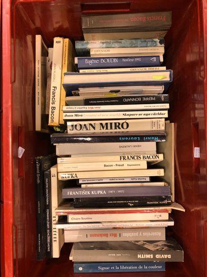Panier de livres d'art : BONNART, BOUDIN,...