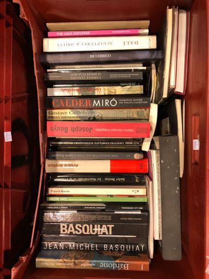 Panier de livres d'art : BEUYS, CALDERT,...