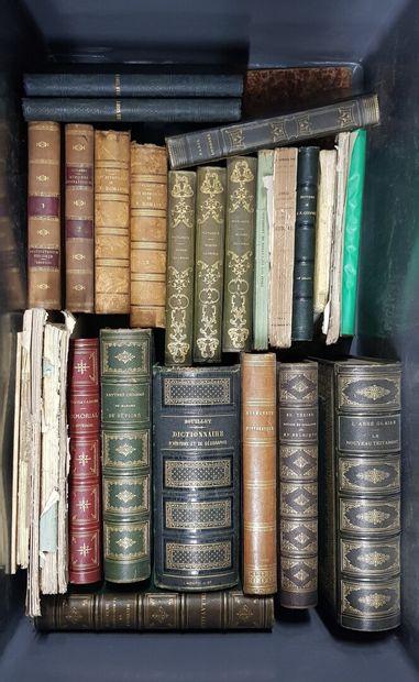Ensemble de volumes XIXème siècle dont Plutarque,...