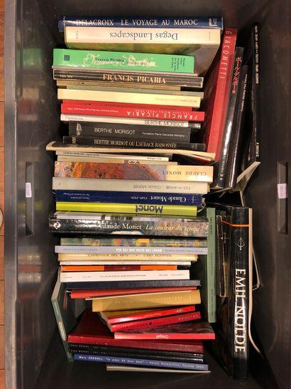 Panier de livres d'art : Emile NOLDE, GIACOMETTI,...