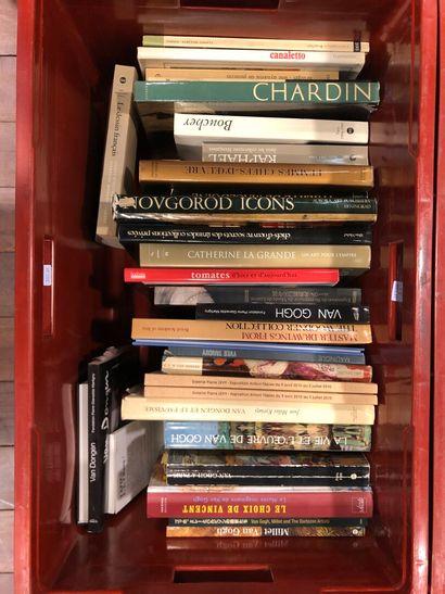 Panier de livres d'art : Van GOGH, Van DONGEN,...