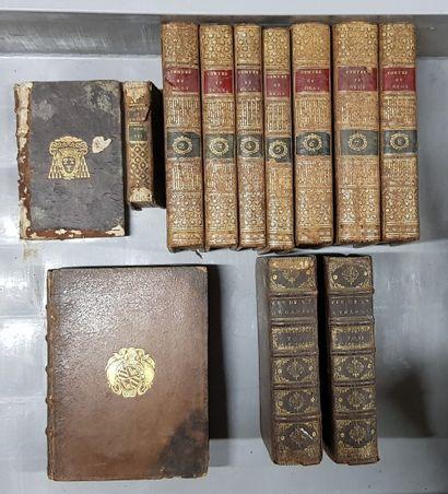 Lot de volumes XVIIIème siècle dont les contes...