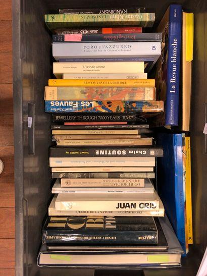 Panier de livres d'art : SOUTINE, Juan GRIS,...