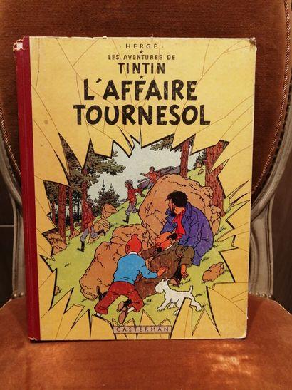 TINTIN, L'affaire Tournesol, édition 1956...