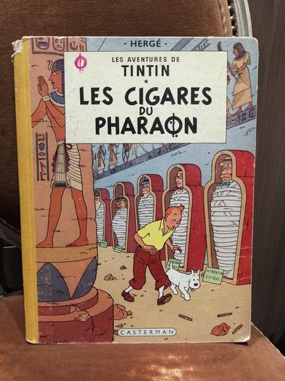 TINTIN, Les Cigares du Pharaon, éditions...
