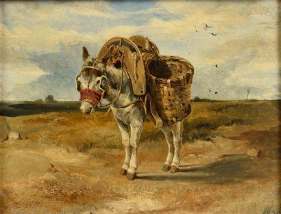 André GIROUX  (Paris 1801 - 1879)  L'âne...