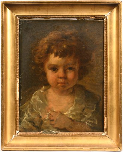 Ecole française vers 1830  Portrait de jeune...