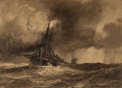 Anton MELBYE  (Copenhague 1818 - Paris 1875)...