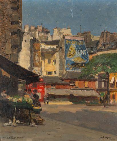 Jean LEFORT (1875 - 1954)  La place Saint-André...