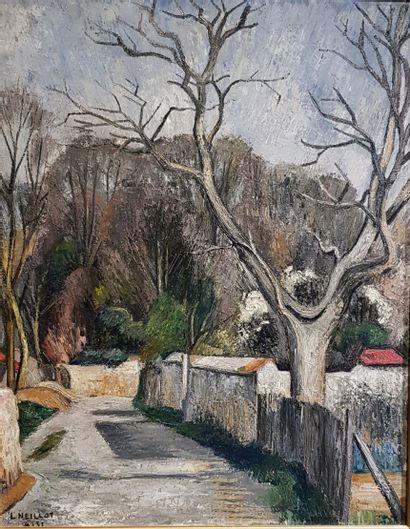 Louis NEILLOT (1898-1973)  Chemin de village...