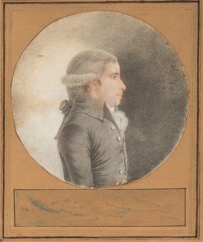 C. LECARPENTIER  (Actif en 1790)  Portrait...