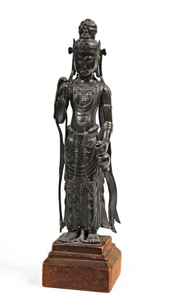 CHINE - XVIIe siècle  Statuette de Guanyin...
