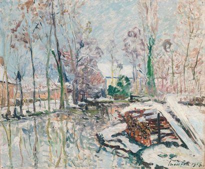 Maxime MAUFRA (1861-1918)  Les bords du Boulon,...