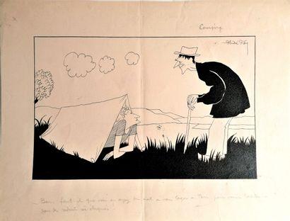 André Lucien Léon FOY (1886-1953)  CAMPING...