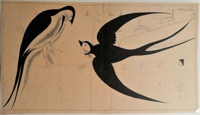 André Lucien Léon FOY (1886-1953)  LES HIRONDELLES...