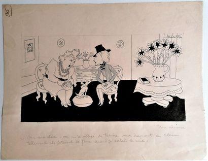 André Lucien Léon FOY (1886-1953)  UNE CRANEUSE...