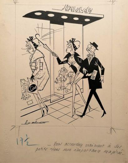 Albert Georges BADERT (1914-1994)  LA MODE...