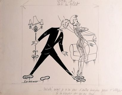 Albert Georges BADERT (1914-1994)  SCENE...