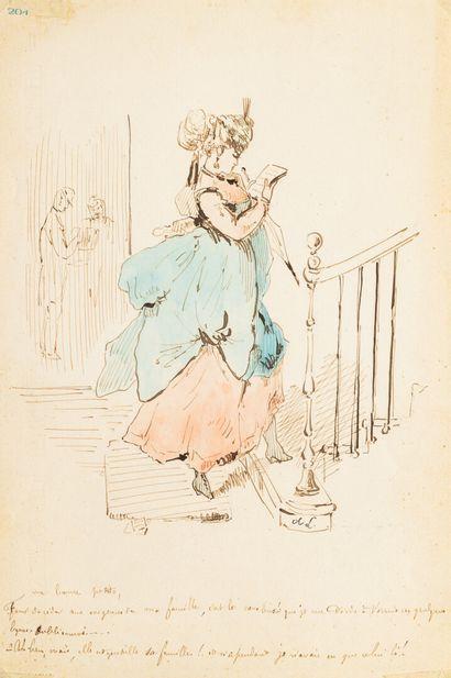 Alfred GRÉVIN (1827-1892)  PARISIANA  Encre...
