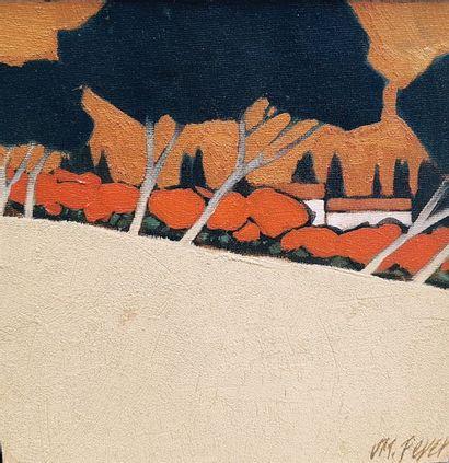 PEYER Jean Marc (né en 1948)  Paysage  Peinture...
