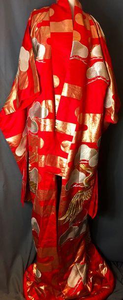 Kimono d'intérieur moderne, col écharpe en...