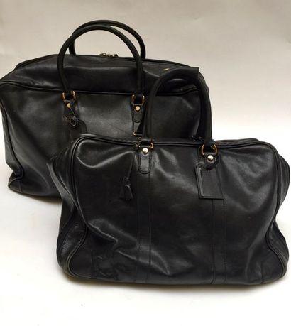 GOYARD  Ensemble de deux sacs de voyage assortis...