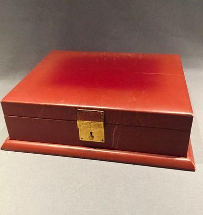 HERMÈS Paris,  Rare boîte type écritoire...