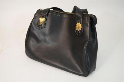 CHRISTIAN LACROIX : Grand sac cabas zippé...