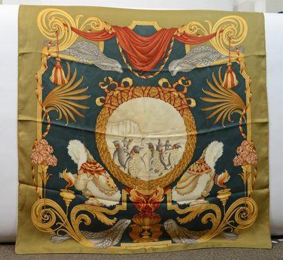 SALVATORE FERRAGAMO: foulard en soie à décor...